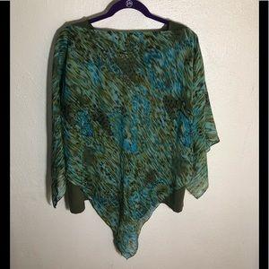 Maggie Barnes Sheer Tunic W/Tank Top..Size 1X